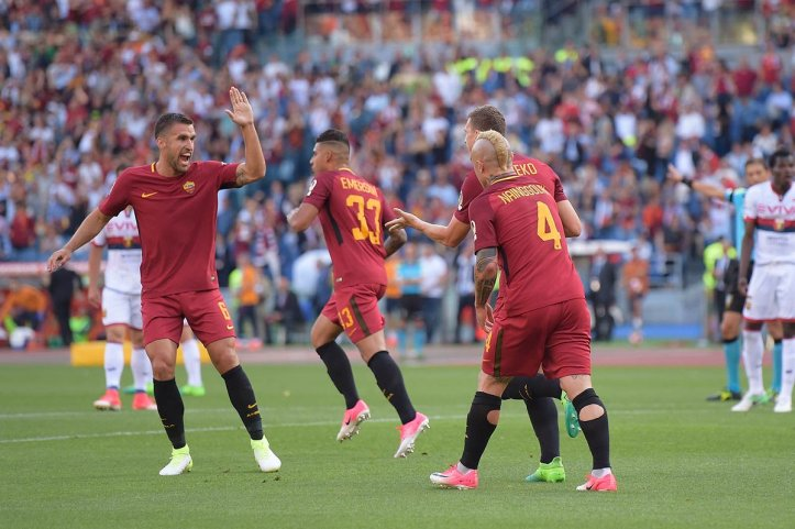 Pure Class Nike AS Roma 17-18 Home Kit - On-Pitch Debut (5)