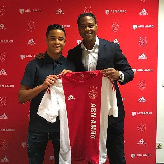 Justin and Patrick Kluivert