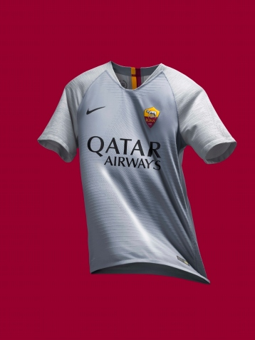 maillot-football-Nike-AS-Roma-away-2018-2019-gris-img3
